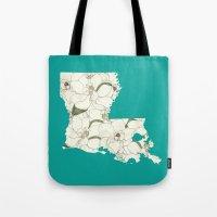 Louisiana In Flowers Tote Bag