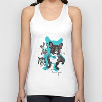 Chauncey Loves You - French Bulldog Unisex Tank Top
