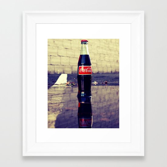 Coca-Cola Reflection Framed Art Print