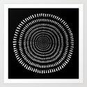 Fjorn black Art Print