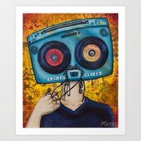 Mixed Tape Art Print