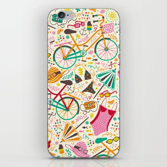 Seaside Cycle iPhone & iPod Skin