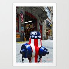 'NYC Heroic' Art Print