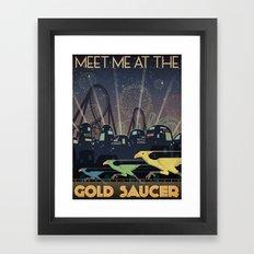 Final Fantasy VII Gold Saucer Travel Poster Framed Art Print