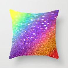 Partytime Rainbow Throw Pillow