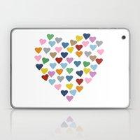 Hearts Heart Laptop & iPad Skin