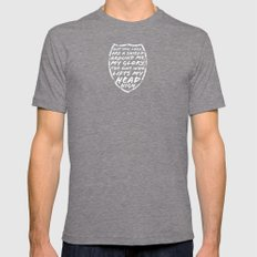 SHIELD Mens Fitted Tee Tri-Grey SMALL