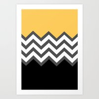 Color Blocked Chevron 6 Art Print