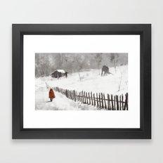 Big Bad Wolf Framed Art Print