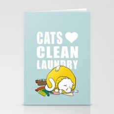 Cats love clean laundry Stationery Cards