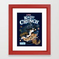 Kaiju Crunch Framed Art Print