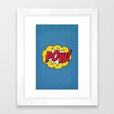 Pow! - 01 - Poster Framed Art Print