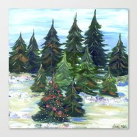 Field of Christmas Trees Canvas Print