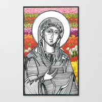 Madonna of the Tulips Canvas Print