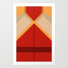 Fire Ferret Mako Art Print