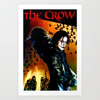 The Crow - Colored Sketch Art Print