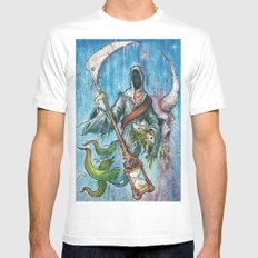 The reaper White Mens Fitted Tee SMALL