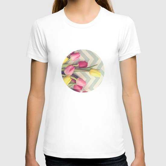 Tulips and Chevrons T-shirt