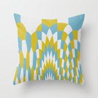 Honey Arches Yellow Throw Pillow