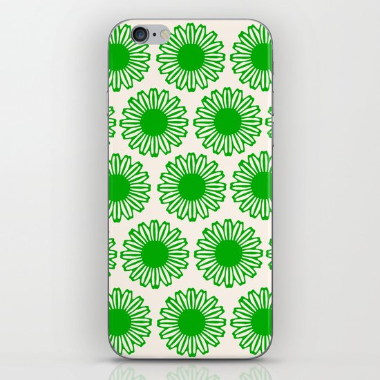 Vintage Flower_Green iPhone & iPod Skin