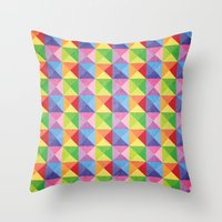 Squiangle Again & Again... Throw Pillow