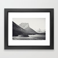Glacier Mountain Lake Bl… Framed Art Print