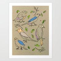 Singing Birds Art Print