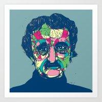 Edgar Allan Poe 1809 - 1849 Art Print