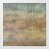 Soft light abstract wicker  Canvas Print