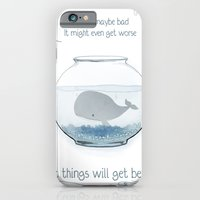 iPhone & iPod Case featuring Whale in a Fishbowl by Crystal Chan