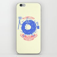 Mischievous donut iPhone & iPod Skin