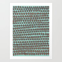 Coral Pebbles Art Print