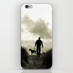 One man and his dog iPhone & iPod Skin