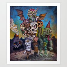 The Master of Monsters Art Print