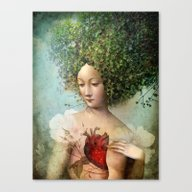 Canvas Print featuring The Day I Lost My Heart by Catrin Welz-Stein