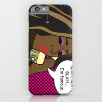 iPhone & iPod Case featuring Why are you still talking? ... I'm Famous by Greg Koenig