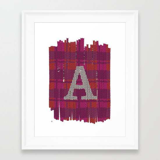 Winter clothes. Letter A III. Framed Art Print