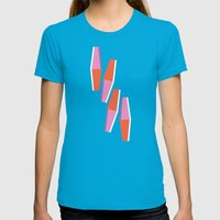 Dayo Womens Fitted Tee Teal SMALL