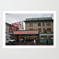 Market Street, Seattle, Washington Art Print