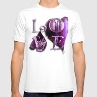 Two Hearts II Mens Fitted Tee White SMALL