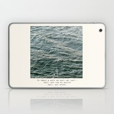 Set Sail (Franklin Delano Roosevelt Quote) Laptop & iPad Skin