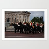 The Guards And Buckingha… Art Print