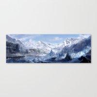 Welcome to Alaska  Canvas Print