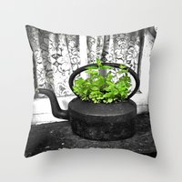 Herbal Tea Throw Pillow