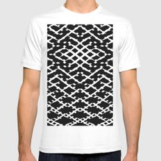 Pattern #5 SMALL Mens Fitted Tee White