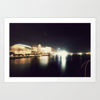 the other side of singapore Art Print