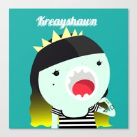 Mini Kreayhawn Canvas Print