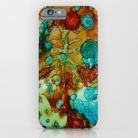flora beginnings Abstract iPhone 6 Slim Case