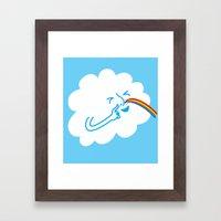 A cloud full of mischief Framed Art Print
