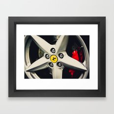 Ferrari Wheel Framed Art Print